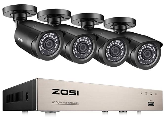 cámaras de vigilancia de la marca Zosi en amazon