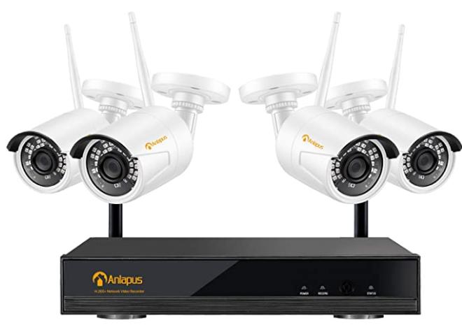 kit de cámaras de seguridad de la marca Anlapus en amazon