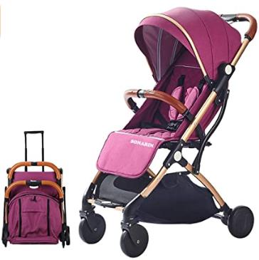 carrito lila para bebé ideal para viajar
