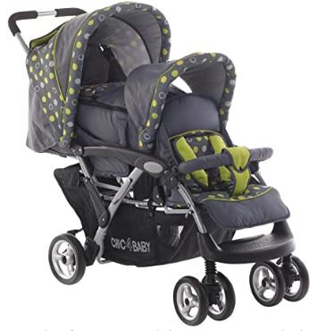 carrito para bebé doble, de dos plazas