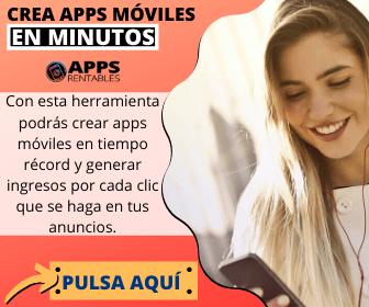 mujer sonriendo mientras mira los beneficios que ha obtenido con apps rentables
