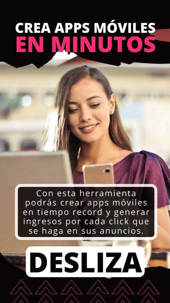 mujer sonriendo observando su plan para crear sus apps rentables