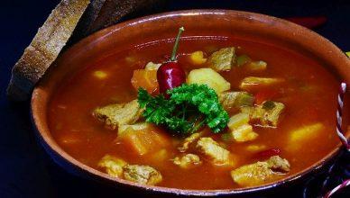 sopa con carne