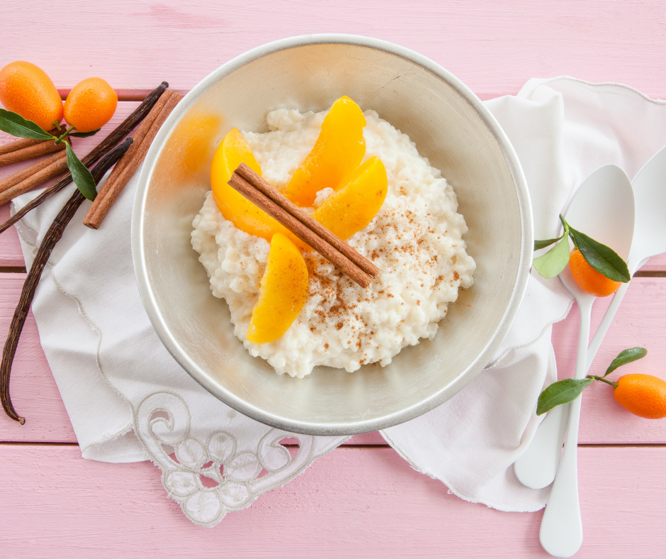 cocinar arroz con melocotón