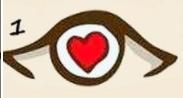 ojo con corazón ocular