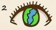 ojo con planeta ocular