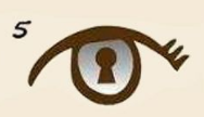 test de personalidad: ojo con candado ocular