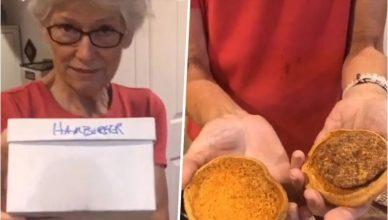 mujer que conservó una hamburguesa durante 24 años