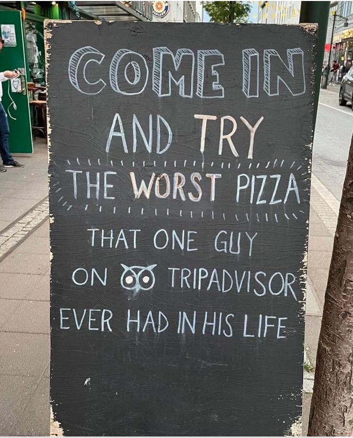letrero de un restaurante