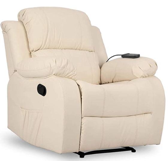 sofa con un masajeador para cuerpo y cervicales incorporado